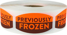 Previously Frozen Grocery Stickers, 0.75 x 1.375 Inches, 500 Labels on a Roll