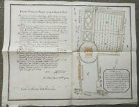 1789 SPLENDIDA PIANTA MANOSCRITTA DI BORGO TREVISO A CASTELFRANCO VENETO