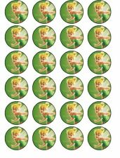 24 x 4cm Tinkerbell  ICING Cupcake Toppers