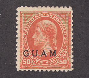 Guam Sc 11 MLH. 1899 50c orange Thomas Jefferson w/ GUAM ovpt, VLH