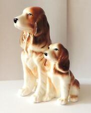 Welsh Springer Spaniel Red and White Female dog & puppy Porcelain figurine NEW
