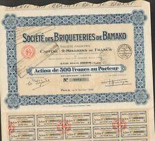 BRIQUETERIES DE BAMAKO (MALI) (I)