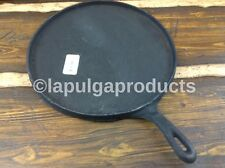 "Mexican La Casita Cast Iron Tortilla Cooking Pan Round 10"" Comal Fierro Griddle"