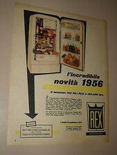 REX FRIGORIFERO ELETTRODOMESTICI=ANNI '50=PUBBLICITA=ADVERTISING=WERBUNG=577