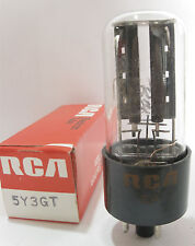 One 1972 RCA 5Y3GT Rectifier tube - TV7D tested @ 60/59, min: 40/40 (Code: EA)