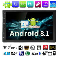 "Android 8.1 7"" 2Din Quad Core GPS Navi WiFi BT Reproductor estéreo MP5 Radio FM"