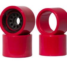 Inboard M1 Electronic Longboard Front/Rear Wheel Set Red 80mm 78A Durometer Esk8