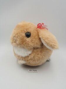 "Usadama-chan B1705 Brown Rabbit Amuse Plush 6"" Stuffed Toy Doll Japan"
