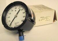 """Ashcroft 45-1279-AS-04L-200# Duragauge 4½"""" Brz Tube Brass SKT"""