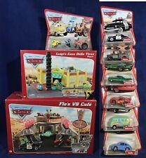 New FLO's V8 CAFE & LUIGI'S CASA DELLA TIRES PLAYSET +  7 Desert Card PIXAR CARS