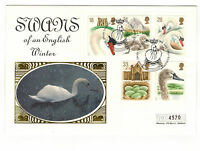 "MERCURY. SILK FDC. 1993 "" SWANS"".  WITH  SPECIAL HANDSTAMP"