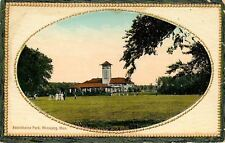Winnepeg MB Victorian Folks on Lawn nr Pavilion of Assiniboine Park~Oval Portal