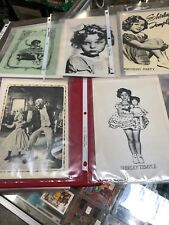 5 LOT VINTAGE SHIRLEY TEMPLE CLASSIC TV GREETING CARDS & ENVELOPE UNUSED RARE