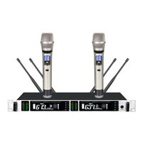 UHF True Diversity Dual Wireless Microphone System for Professional Performance