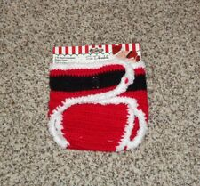 Baby Boys Girls Santa Diaper Cover Hand Crockete Size 6-12 Months New