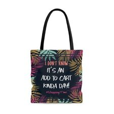 Tote Bag Tropical Pattern Shopping Time All Over Printed Both Side Style Tote