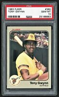 1983 FLEER TONY GWYNN #360 ROOKIE RC HOF SAN DIEGO PADRES ***PSA 10 GEM MINT***
