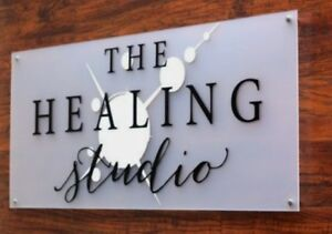 MODERN BUSINESS PLAQUE X LARGE A3 HOUSE SIGN GLASS ACRYLIC OFFICE/COMMERCIAL