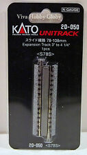 """Kato 20050 N Gauge Unitrack 78-108mm Expansion Track 3"""" to 4-1/4"""". 1pc. S78S"""