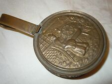 Vintage Brass Butlers Pan Crumb Tray England Quality Spinning Wheel Spindle