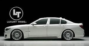 BMW 7 Series F01 F02 Stainless Chrome Pillar Posts by Luxury Trims 2009-2017 6pc
