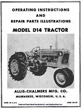 Allis Chalmers  Model D-14 D14 Tractor Owners Operators and Parts Manual TM-137
