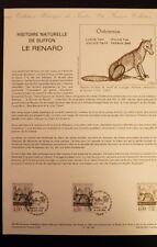 FRANCE MUSEE POSTAL FDC 26-88   LE RENARD   4+4F   MONTBARD & PARIS   1988