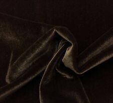 """BEACON HILL PLUSH MOHAIR ESPRESSO BROWN VELVET UPHOLSTERY FABRIC BY YARD 55""""W"""