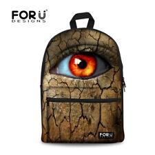 Women Travel Backpack Leopard Skin Eye Rucksack School Bags College satchel