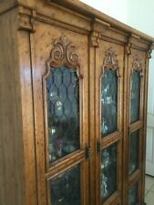 Vintage Drexel Velero Mediterranean Ornately Carved Lighted China Cabinet