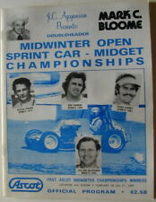 Old Sprint Car Race Program Ascot Park Speedway Gardena California VERY RARE