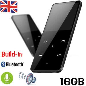 UK Bluetooth MP4 Media MP3 Player FM Radio Recorder Sport Music Speaker 16GB