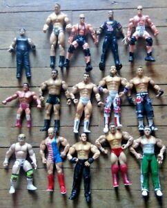 💛💚  Lot of 15 WWE Wrestlers JAKKS Toy Biz 2003 2005 1998 1999 Very Good 💛💚