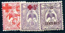 NOUVELLE CALEDONIE 1915 Yvert 110,112,113 ** POSTFRISCH ROT KREUZ (09726