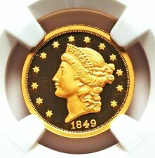 1849 Gold Pattern Double Eagle Smithsonian Pvt Issue 2013 NGC Ultra Cameo Proof