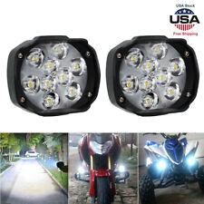 2x Motorcycle Led External Spot Lights Fog Lamp Waterproof Scooter Atv Headlight