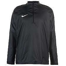 Nike Academy 1/4 Zip Pullover Raincoat Mens Size UK Medium Black/White  *33