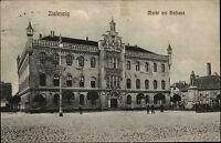 Zielenzig Sulęcin Polen Polska Schlesien 1907 Markt Rathaus gelaufen Burguffeln