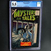 MYSTERY TALES #43 (Atlas 1956) 💥 CGC 5.5 OW 💥 ONLY 14 in CENSUS! Everett Cvr