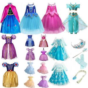Girls Princess Dress Costume Kids Cosplay Party Birthday Dress Up Fancy Dresses