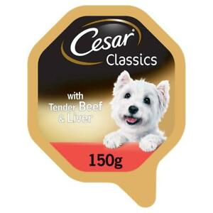14 x 150g Cesar Classics Dog Food Tray with Beef and Liver in Loaf