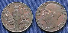MONETA COIN REGNO ITALIA VITTORIO EMANUELE III CENTESIMI 10 IMPERO 1942.XX°E.F.