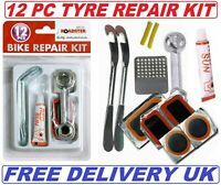 12pc Bike Bicycle Tyre Puncture Repair Kit