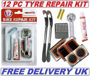 12pc Bike Bicycle Tyre Puncture Repair Kit
