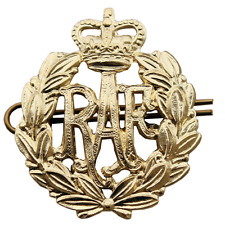 ROYAL AIR FORCE BRASS CAP BADGE RAF BRASS METAL CAP BADGE