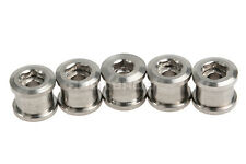 Titanium Ti Bike Bicycle Crankset Chainring Bolts & Nuts 5 Pcs