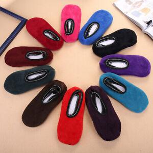 Thick Warm Socks Ladies Solid Color Anti-skid Floor Elastic Floor Slippers Socks
