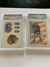 Bobby Hull Auto PSA Certified And Chicago Blackhawks Sticker Card GEM MT 10 4POP