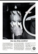 """1963 VOLKSWAGEN VW BEETLE OVERDRIVE AD A2 CANVAS PRINT POSTER 23.4""""x16.5"""""""