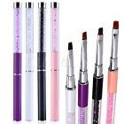 UV Gel Nail Art Tips Crystal Acrylic Painting Drawing Pen Polish Brush Pen Set e